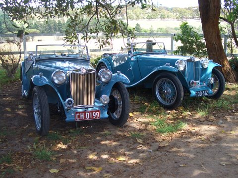 MG TC type Clipper Blue
